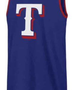 Texas Rangers 47 Brand Men's Blue Splitter Tank Top