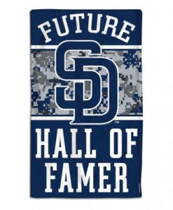 San Diego Padres Future Hall of Famer Navy Baby Burp Cloth