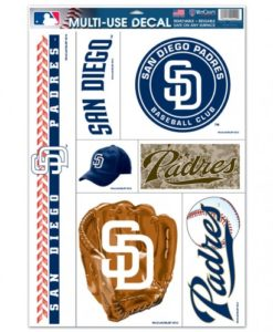 """San Diego Padres 11""""x17"""" Ultra Decal Sheet"""