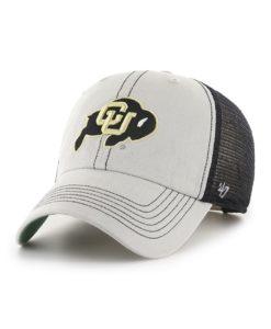 Colorado Buffaloes 47 Brand Trawler Gray Clean Up Mesh Snapback Hat