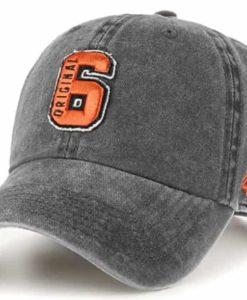 Original Six 47 Brand Washed Black Clean Up Adjustable Hat