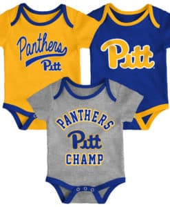 Pittsburgh Pitt Panthers Baby 3 Pack Champ Onesie Creeper Set