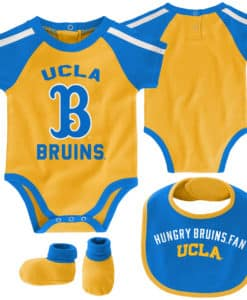 UCLA Bruins Baby Gold Blue 3 Piece Creeper Set