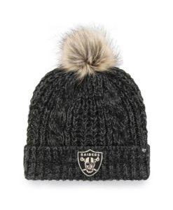 Las Vegas Raiders Women's 47 Brand Black Meeko Cuff Knit Hat