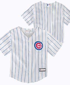 Chicago Cubs TODDLER Baby White Pinstripe Jersey